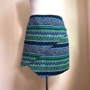 Romeo & Juliet Couture Tribal Jacquard Skirt